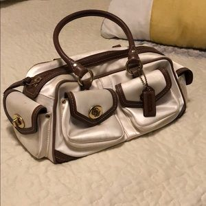 Coach Satchel Vintage Ivory White and Brown